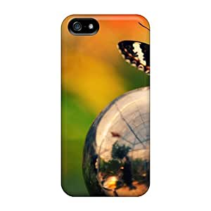 Awesome Butterfly On Ball Flip Case With Fashion Design For Iphone 5/5s