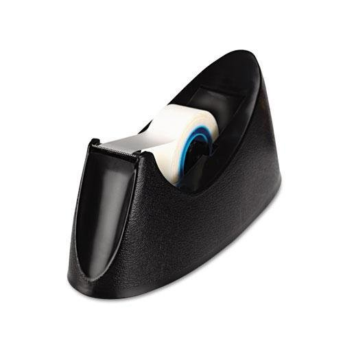 Universal 15001 Desktop Tape Dispenser, 1'' Core, Weighted Nonskid Base, Black