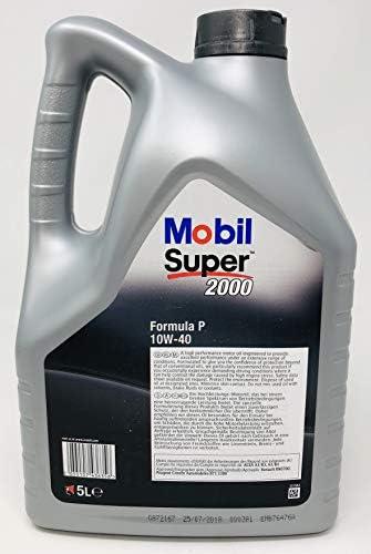 Aceite Motor Semi-sintético - Mobil Super 2000 Formula P 10W-40, Pack 10 litros: Amazon.es: Coche y moto