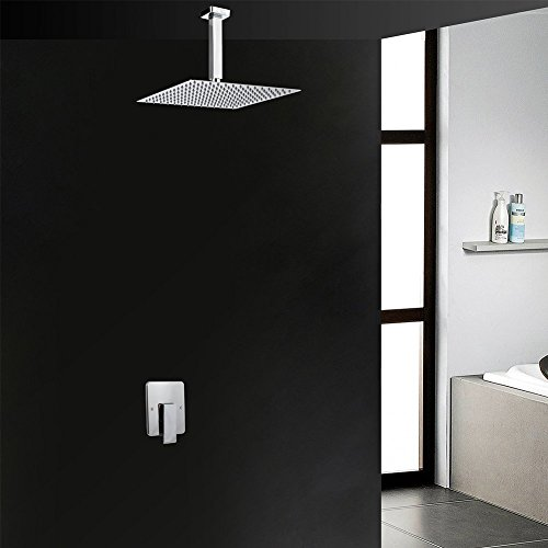 Artbath Shower Trim Kit and Rough-in Shower Valve Body, Ceiling Mounted 12 inch Rain Shower Head Set, Chrome Finished by Artbath (Image #9)