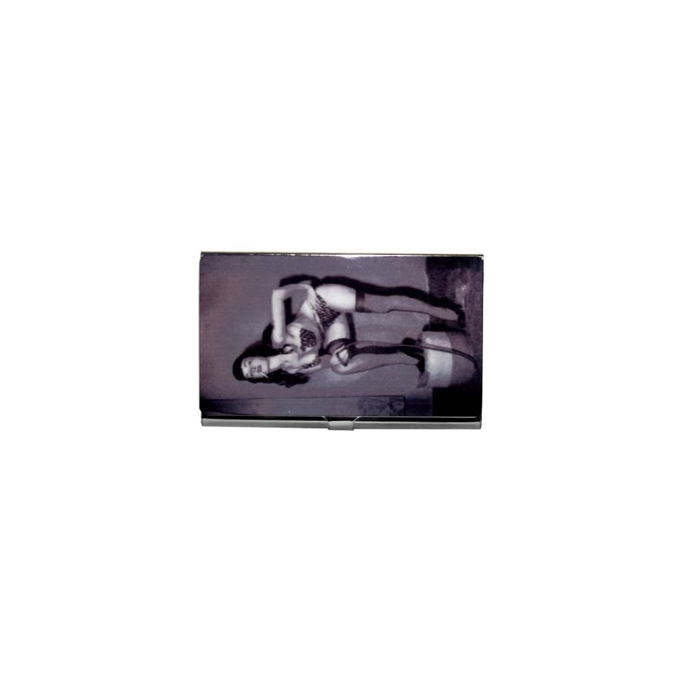 Bettie Page Pin Up Model Burlesque ID Business Card Holder