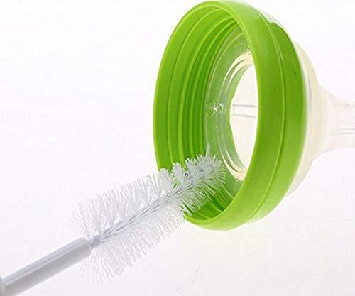 SYGA 4 Pcs Baby Milk Bottle Nipple Straw Brush Sponge Nylon Cleaning Brush Cleaner Bottle Tong Set Random Color