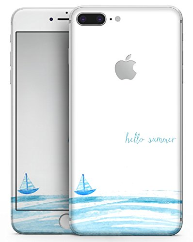 Hello Summer Sailboat - Design Skinz Premium Full-Body Decal Skin-Kit for the Apple 5.5