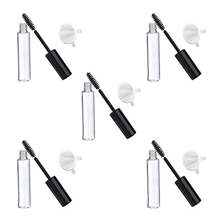 5023d16d0cd Amazon.com: Coobbar 5pcs 10ml Empty Mascara Tube with Eyelash Wand + 5pcs  Funnels and Transfer Pipettes Set for Castor Oil DIY Mascara Container:  Home ...