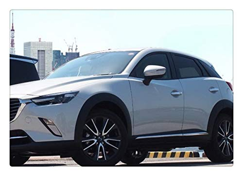 Jin cypress Chrome Front Hood Bonnet Cover Trim for Mazda CX-3 2016 2017 2018 2019