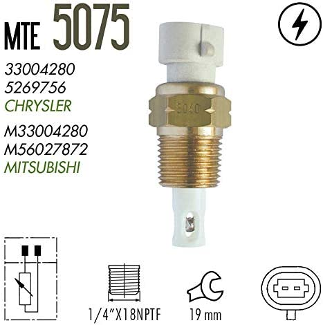 Dodge 1986-1997 2001 2002 Mitsubishi 1995-1999 Plymouth 1986-1997 Eagle 1995-1998 MTE-THOMSON 5075 Intake Air Charge Temperature Sensor IAT fits Chrysler 1986-1988 1995-1997 Jeep 1991-1996