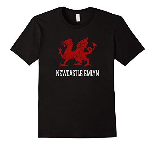 Men's Newcastle Emlyn, Wales - Welsh Flag Cymru T-shirt 2...