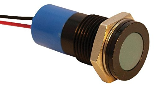 LED Panel Mount Indicator Blue Q14F3BXXB24E IP67 APEM 24 VDC 100 mcd 20 mA 14 mm