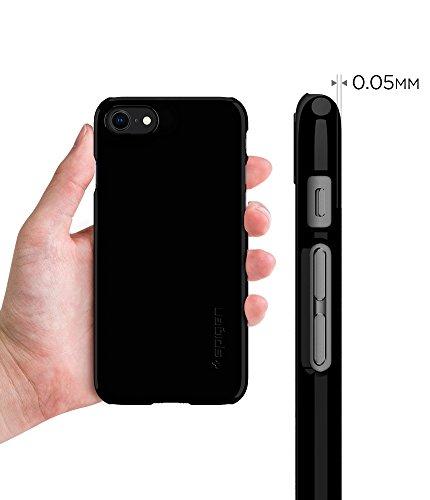 Spigen iPhone 7 Case Thin Fit Jet Black 054CS22210