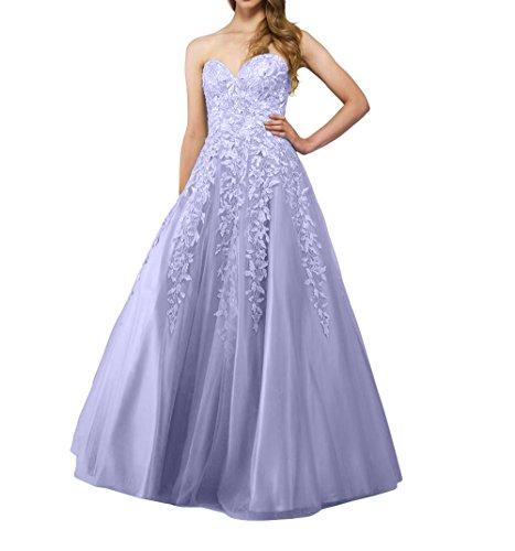 Tanzenkleider Promkleider Partykleider Abendkleider Brau Spitze Prinzess mia Tuell La Langes Abschlussballkleider Lilac Fxfv4wHqn