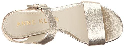 Jackie Light Women's Sandal Gold Leather Heeled Klein Anne 6Zq177