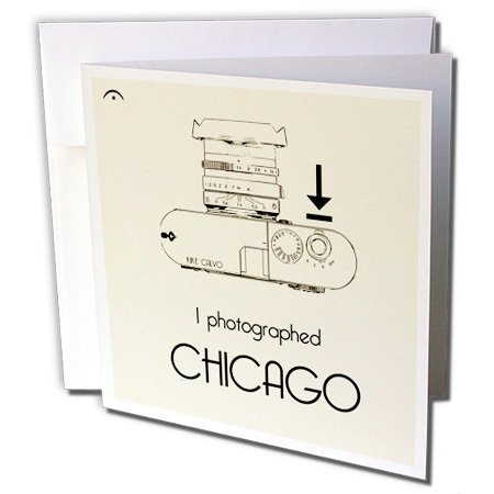 I photograph... Chicago - Greeting Cards, 6 x 6 inches, set of 12 (gc_14990_2)