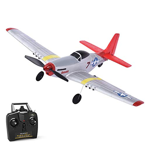 Volantex Mini VOLANTEXRC Mustang P-51D RC Airplane Remote Control Airplane TrainStar Mini 2.4GHz RC Plane Ready to Fly with 2.4GHz 4CH Control, 6-Axis Gyro Easy to Fly for Beginners (761-5 RTF) best to buy