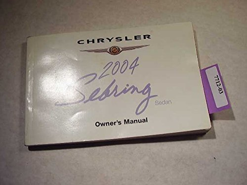 2004-chrysler-sebring-sedan-owners-manual