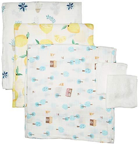 3 Pack Ultra-Soft Organic Bamboo Swaddle Baby Blankets Bonus Washcloths | Large Newborn Swaddling Receiving Blanket Set Boys Girls in Designer Prints | Muslin Cotton Bamboo Blend