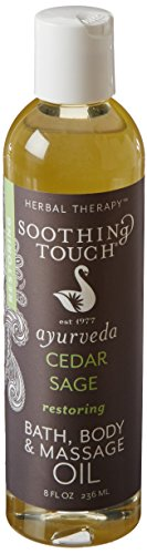Soothing Touch W67366CS Bath and Body Oil Cedar Sage, 8-Ounce