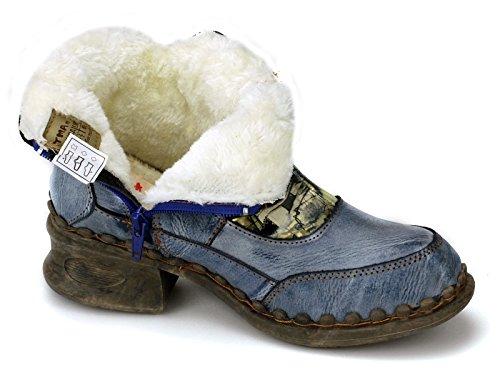 TMA Damen Winter Boots Stiefeletten Warmfutter 5388 Blau (schattiert)