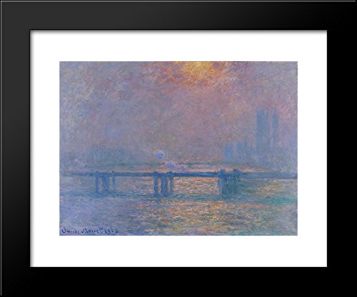 Charing Cross Bridge, The Thames 20x24 Framed Art Print by Monet, Claude