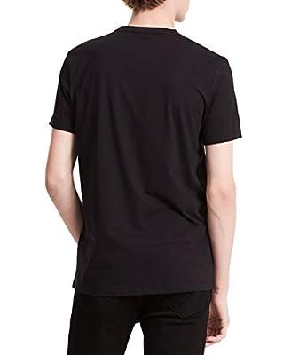Calvin Klein Men's Short Sleeve Hologram Print V-Neck T-Shirt