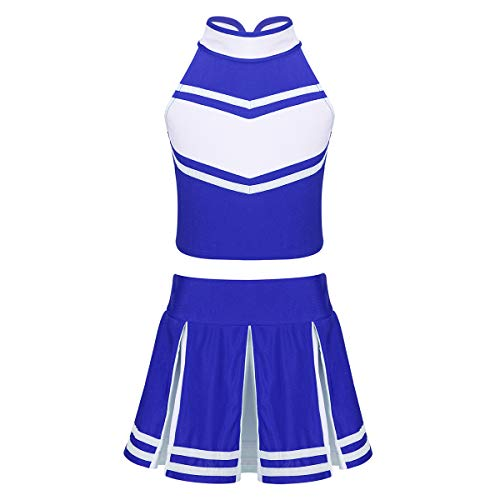 winying Girls 2PCS Cheerleading Costume Sleeveless Top