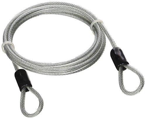 Lumintrail 4 Foot 3mm Braided Steel Coated Security Cable Luggage Lock Safety Cable Wire Double Loop