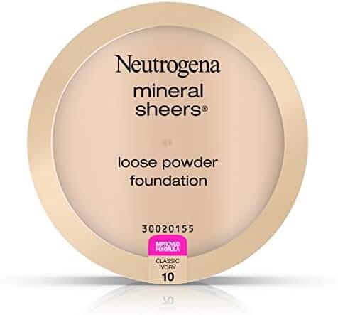 Neutrogena Mineral Sheers Loose Powder Foundation, Classic Ivory 10, .19 Oz