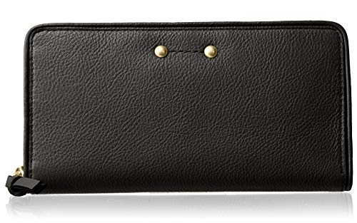 Wallet Continental Leather Zip - Cole Haan Jade Leather Continental Zip Around Wallet, black
