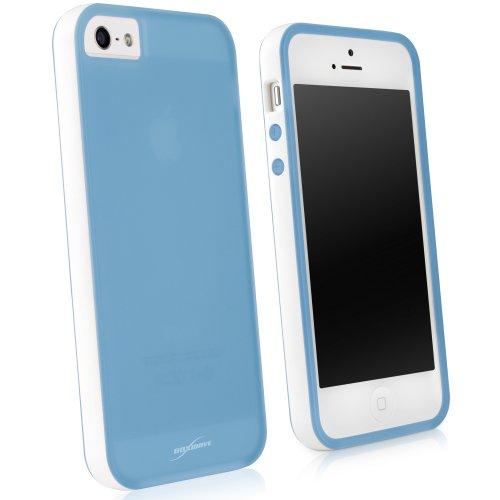 BoxWave Étui Snowy Frost Coque Apple iPhone 5–Finition Blanc Bumper Coque hybride en TPU pour une protection antidérapante Durable, avec bordure Blanc Double Ton couleur–Apple iPhone 5et coques (