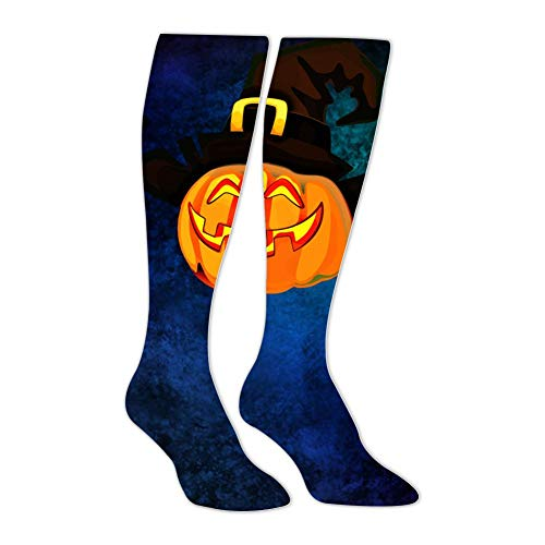 Knee High Stockings Halloween Pumpkin Scary Long Socks Sports Athletic for Man and Women