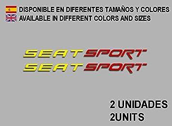 PEGATINAS SEAT SPORT F78 VINILO ADESIVI DECAL AUFKLEBER КЛЕЙ STICKERS CAR VOITURE (AMARILLO ROJO) ECOSHIRT ARTICULOS Y VINILOS PERSONALIZADOS