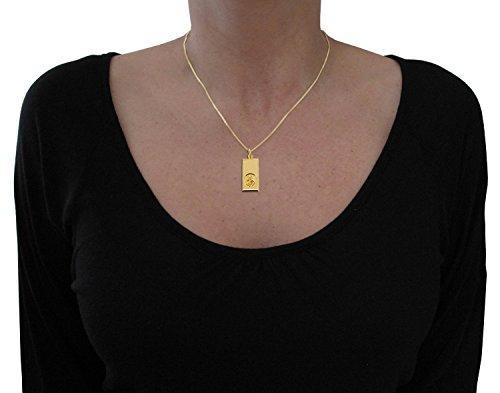 Or jaune massif 9 ct lingot Saint Christophe-Pendentif 27 x 14 mm en coffret cadeau