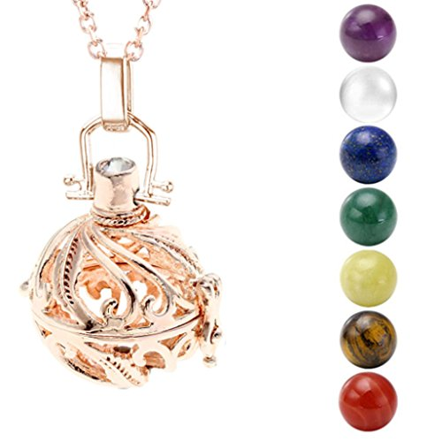 JOVIVI Pendant Necklace Chakras Gemstones