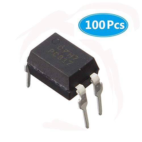 (Pack of 100 Pieces) MCIGICM pc817 optocoupler Optoisolator Transistor Output 5000Vrms 1 Channel 4-DIP ()
