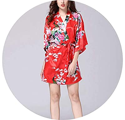12 Colors Women V-Neck Printing Nightdress Girls Bathrobe Largenightwear Household Sleep Dress,08,L
