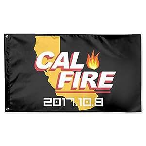 Qmenbeebki Elel 2017California fuerte Cal Fire 100% Fibra de poliéster bandera de la familia 3'x 5'