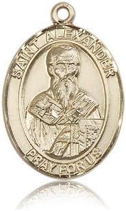 14ktゴールド聖Alexander Sauli medal