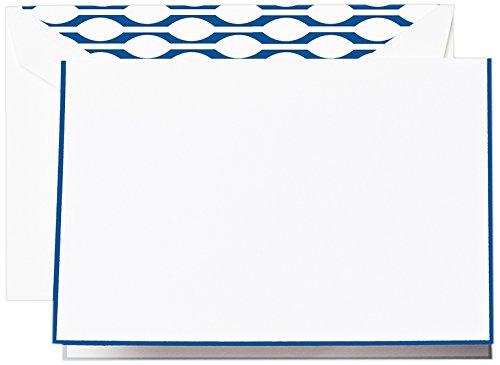 Crane & Co. Regent Blue Bordered Note (CF1417)