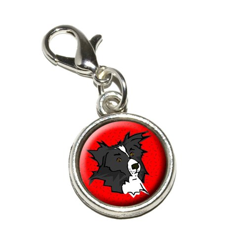 Graphics and More Border Collie of Excellence Antiqued Bracelet Pendant Zipper Pull Charm with Lobster Clasp