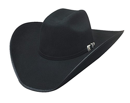 Bullhide Hats 0664Bl Rodeo Round-Up Collection Boot Hill 8 X 7 Black Cowboy Hat ()