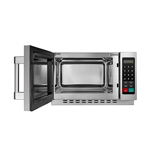 Midea Equipment 1034N1A Stainless Steel Countertop Commercial Microwave Oven, 1000W 5
