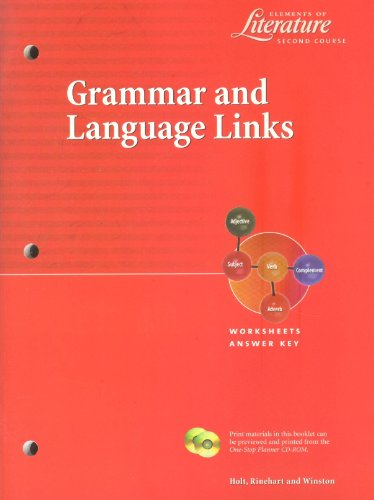 Grammar and Language Links: Elements of Literature - Second Course (Elements of Literature - Second Course)