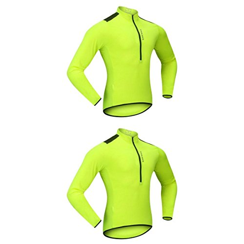リゾート威信曲線Fenteer 高品質 ロングスリーブ 防水 衣装 サイクリング ジャケット ジャージー 夜間安全確保 快適