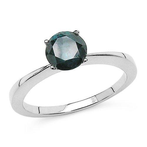 1.01 Carat Genuine Blue Diamond 14K White Gold Ring