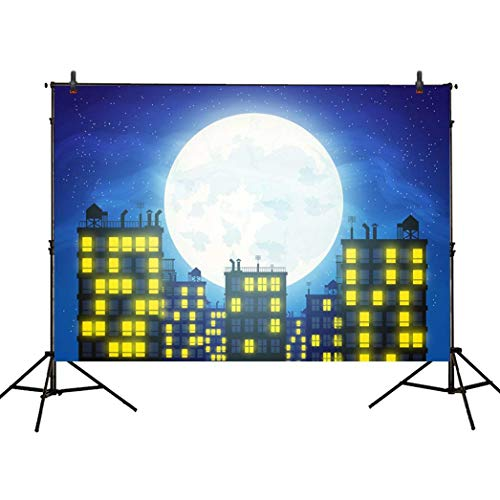 Allenjoy 7x5ft photography backdrops superhero super city fu