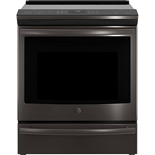 GE Profile PHS930BLTS 30 Inch Slide-in Electric Range with Smoothtop Cooktop, 5.3 cu. ft. Primary Oven Capacity in Black Stainless Steel