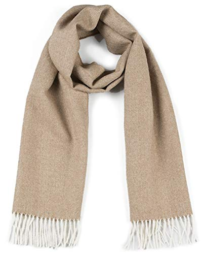 Herringbone Alpaca Scarf - 100% Baby Alpaca (Camel Herringbone) by Incredible Natural Creations from Alpaca - INCA Brands