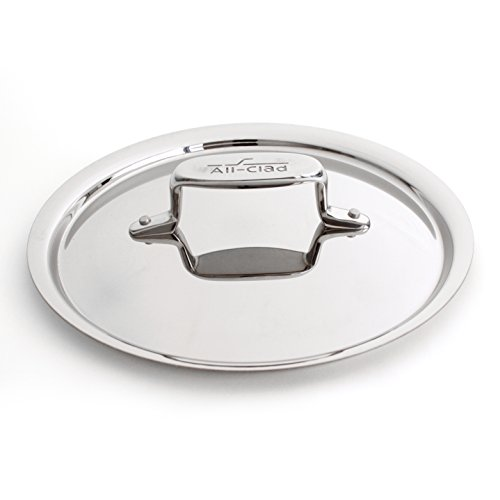 All-Clad D5 Brushed Stainless Steel Saute and Saucier Lid, 9 Inch