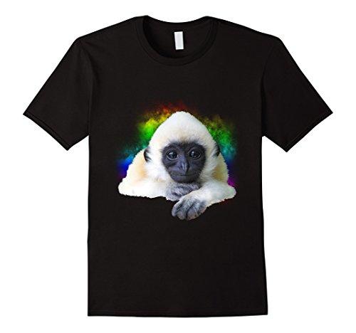Gibbon Monkey - Gibbon Monkey Rainbow Cute Little Primate Animal T-Shirt
