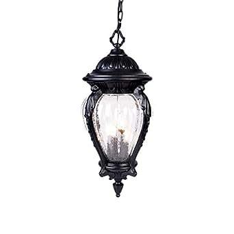 Four Light Matte Black Hanging Lantern 7026BK