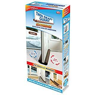 Stopper Smoke (Twin Draft Guard 60220 Energy Saving Under Door Draft Stopper, Brown)